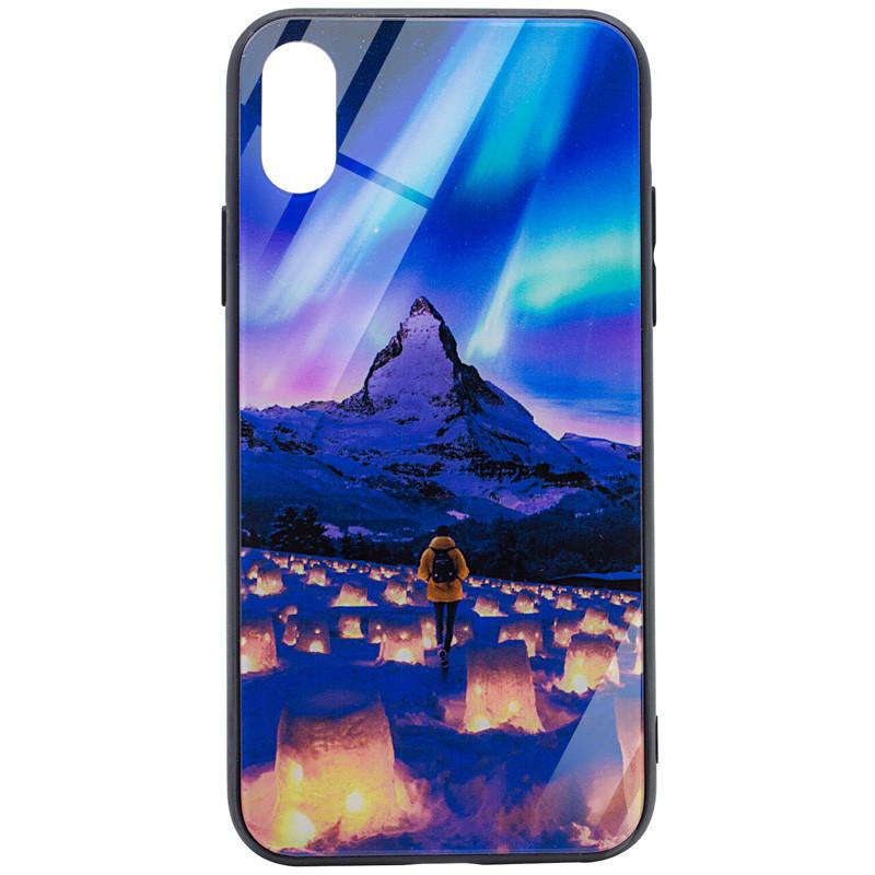 "TPU+Glass чехол Night series для Apple iPhone X (5.8"") / XS (5.8"") Сияние"