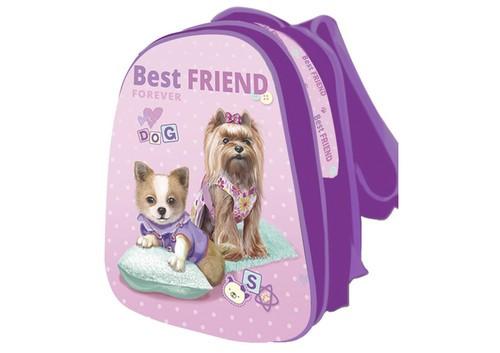 Рюкзак шкільний каркасний для дівчинки KIDIS BEST FRIEND (собачки) 13750 39 * 30 * 18 см