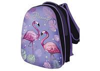 Рюкзак шкільний каркасний для дівчинки KIDIS FLAMINGO (фламінго) 39 * 30 * 18 см