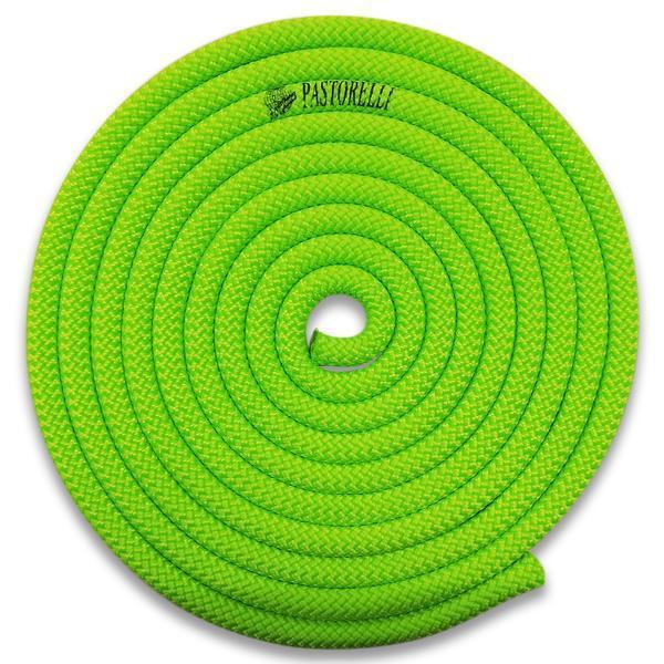 Скакалка гимнастическая PASTORELLI NEW ORLEANS / F.I.G. Approved / 3м / Цвет: Lime Green