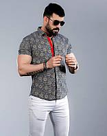 Стильная мужская рубашка с коротким рукавом , фото 1