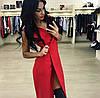 Платье женское на запах (мод. 238) цвета: чёрный, голубой, красный, пудра