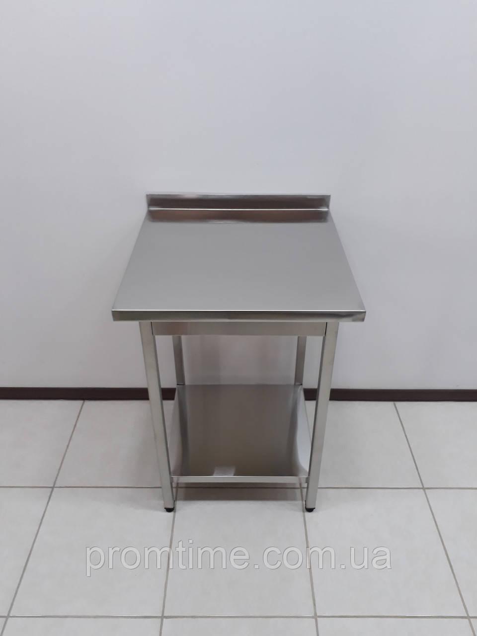 Стол производственный из нержавеющей стали 600х600х850
