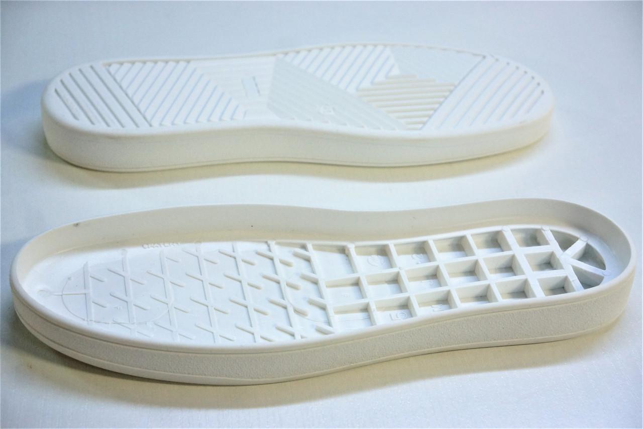 Подошва для обуви женская Емоджи 2 белая р,36-42