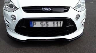 Диффузор переднего бампера губа накладка тюнинг Ford S-Max Titanium