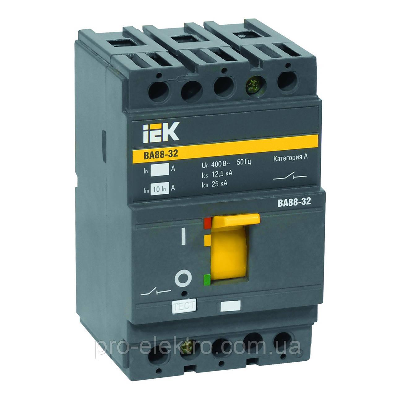 Автоматический выключатель IEK ВА88-32 3Р 16А 25кА