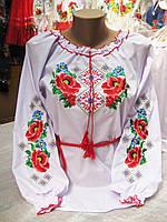 """""""Мальва с орнаментом"""" блузка вышиванка для девочки ( 152 - 170 р )"""