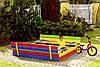 Набор песочница 120 х 120 см + Стол с лавочками., фото 3