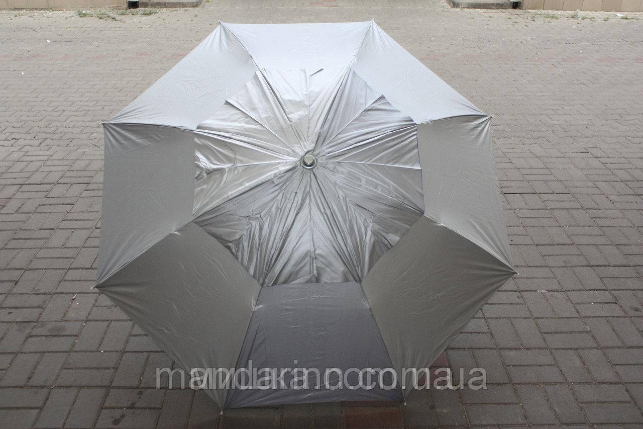 Пляжний зонт компактний, складаний, 160см, блакитний і зелений колір - фото 6