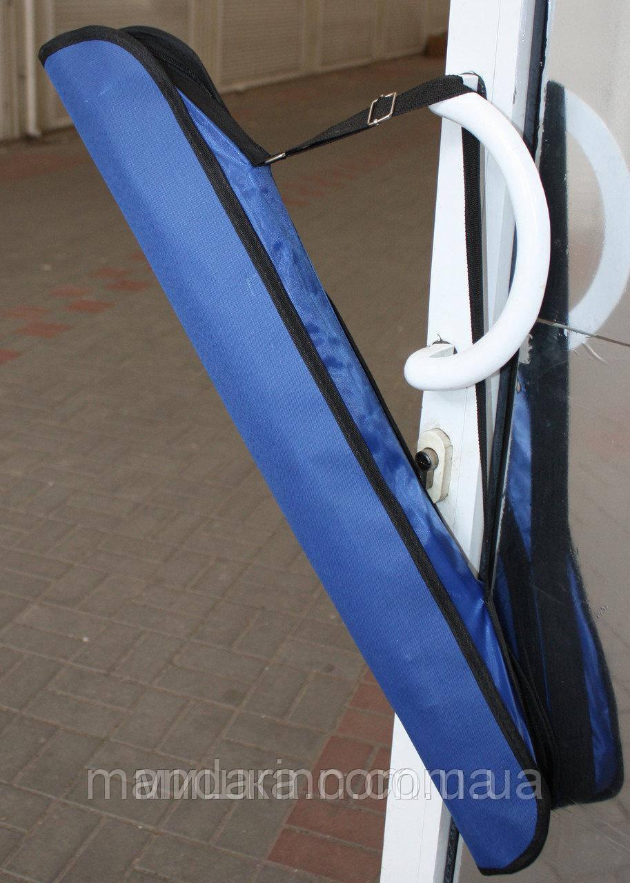 Пляжний зонт компактний, складаний, 160см, блакитний і зелений колір - фото 7