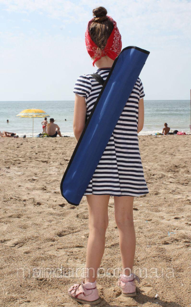 Пляжний зонт компактний, складаний, 160см, блакитний і зелений колір - фото 5