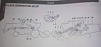 Ремені на Claas Dominator 48 SP Gates, Carlisle, Contitech Agri