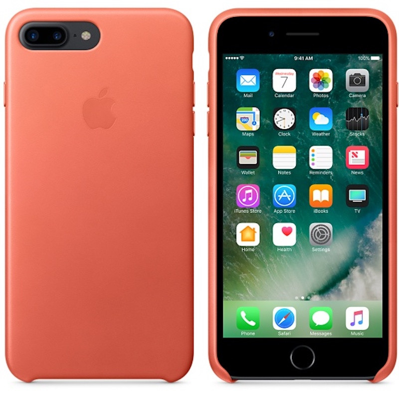 "Чехол Smart Leather для Apple iPhone 7 plus / 8 plus (5.5"") Оранжевый / Bright Orange"