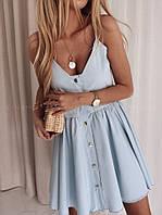 Платье женское стильное (мод.243) цвета: белый, голубой, фото 1