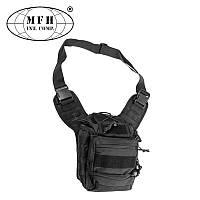 "Наплічна тактична сумка ""Deluxe"" MFH чорного кольору"