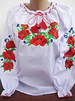 """""""Маки с васильками"""" вышиванка для девочки ( 152 - 170 р)"""