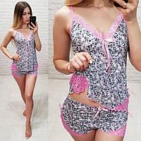 692f6be36cd0 Шелк Армани! Женская пижама спальный комплект нижнее белье шорты маечка с  ...