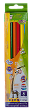 Карандаши цветные 6цв KIDS Line ZiBi