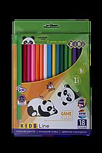 Карандаши цветные 18цв KIDS Line ZiBi