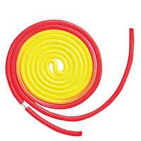 Скакалка Chacott ORIGINAL COMBINATION COLOR ROPE (NYLON) 3м Цвет: 750.Lt.Orange&Lm.Yellow