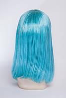 Парик клеопатра, цвет  голубой