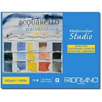 Альбом для акварели Fabriano A4 75л 300г/м2 Watercolor Studio среднее зерно склейка 8001348163046