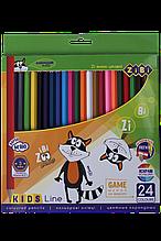 Карандаши цветные 24цв KIDS Line ZiBi