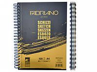 Альбом для эскизов Fabriano A4 120л 90г/м2 Schizzi Sketch спираль 8001348171508