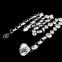 Акриловые кристаллы на кольцах для декора с пирамидкой