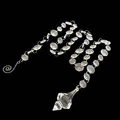 Акриловые гирлянды с кристаллов на кольцах с пикой