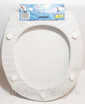 Мягкое сиденье для унитаза Aqua Fairy, Турция (белое сиденье) ромашки, фото 2