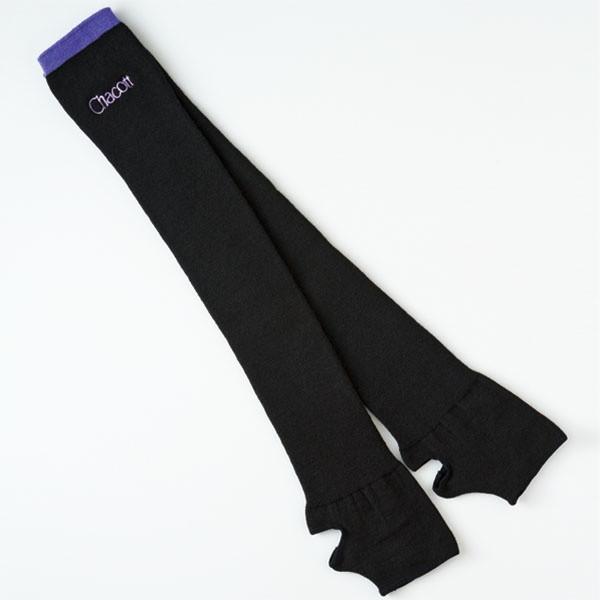 Гетры гимнастические Chacott COLORED EDGE LEG COVERS / One Size / Цвет: 074.Black x Viol.