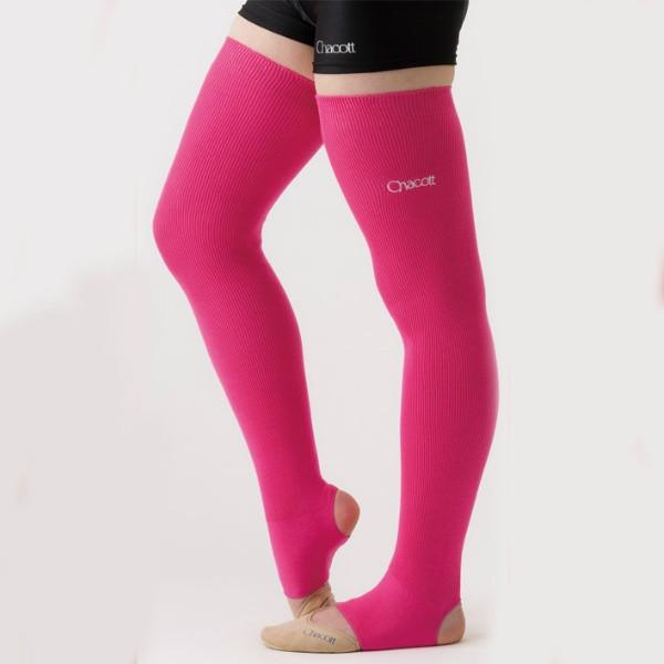 Гетры гимнастические Chacott NEON LEG COVER / One Size / Цвет: 043.Pink