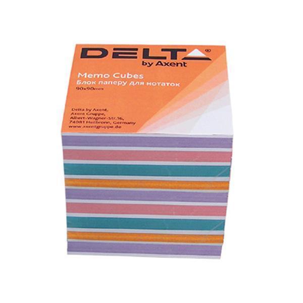 Блок бумаги для заметок непроклеенный Axent 90x90x80мм ассорти цветов D8025