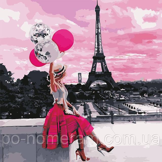 Картина по номерам Вид на Эйфелеву башню