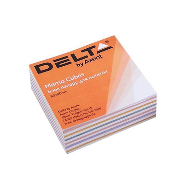 Блок бумаги для заметок Axent проклеенный 90x90x30мм ассорти цветов D8014