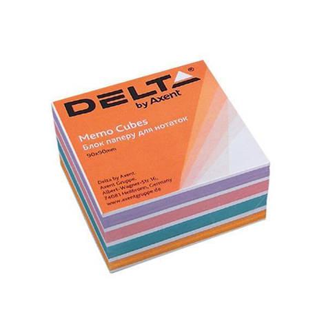 Блок бумаги для заметок Axent проклеенный 90x90x30мм ассорти цветов D8024, фото 2