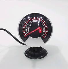Прибор измерения топливовоздушной смеси (экономайзер) стрелочный Ket Gauge 602709 на ножке черный Ø60мм