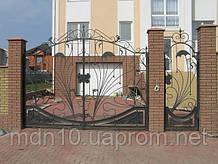 Ворота кованые распашные (MD-VKR-008)