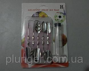 Шприц кондитерский с насадками, инструмент для 3D желе H