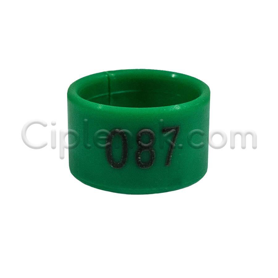 Маркерные пластиковые кольца для птицы 1,6 см (номерные)