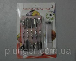 Шприц кондитерский с насадками, инструмент для 3D желе J