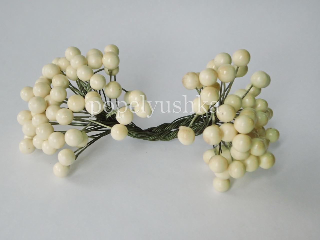 Ягоди глянцеві білі 10 мм