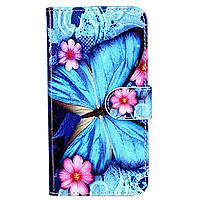 Чехол-книжка с рисунком Color Book для Alcatel U5 5044D / 5047D Бабочка