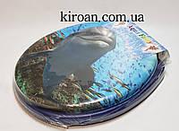 Мягкое сиденье для унитаза Aqua Fairy (сиденье синего цвета)