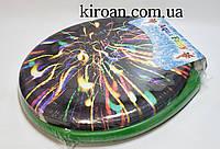 Мягкое сиденье для унитаза Aqua Fairy (сиденье злёного цвета)
