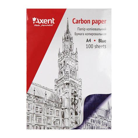 Бумага копировальная Axent А4 100 листов синяя копирка 3301-02-A, фото 2