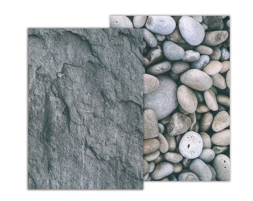 Бумага с рисунком А4 Heyda Галька / Камень 21х29.7см двухсторонняя 300г/м2 4823064953923