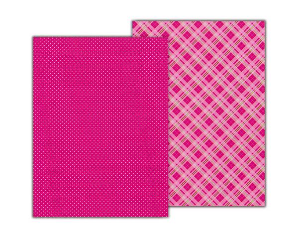 Бумага с рисунком А4 Heyda Клетка 21х29.7см двухсторонняя Розовая 300г/м2 4823064953961, фото 2