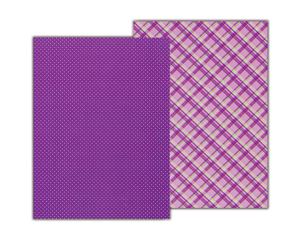 Бумага с рисунком А4 Heyda Клетка 21х29.7см двухсторонняя Фиолетовая 300г/м2 4823064953978, фото 2